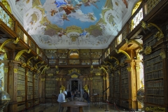 Frescoes within Melk Abbey Library