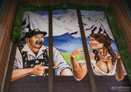 Mural, Heidi's Bier Bar, 34B Klostergade, Aarhus