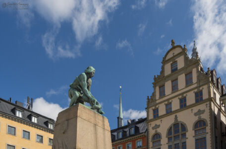 "Statue of Engelbrekt at Kornhamnstorg (""Grain Harbour Square"")"