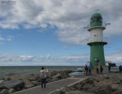 Westmole Light,  on the tip of the breakwater - entrance to Warnemunde harbor