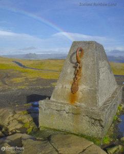Iceland Rainbow, Kirkjufjara Beach