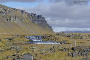 Flowing Glacial Waterfalls