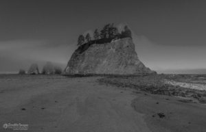 Rialto Beach during the Eclipse