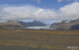 Glacier Field from Afar, Southern Iceland
