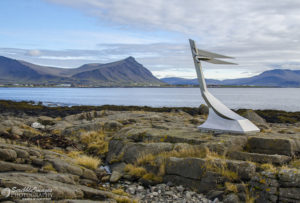Memorial to Mermaid Boat, Akranes Lighthouse