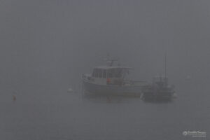 Foggy Boat Scene @ Belfast, Maine